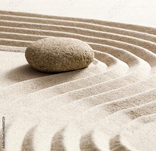 Tuinposter Stenen in het Zand zen softness