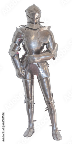 A vintage european full body armor suit. isolated Poster