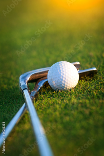 Foto op Aluminium Golf Golf club and ball
