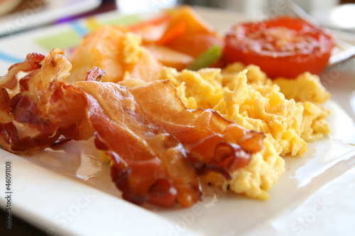 Fotografie, Obraz  Scrambled Eggs and Bacon