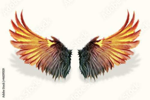 Foto  brennende Flügel