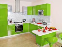Modern Kitchen Interior With G...