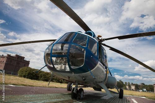 Türaufkleber Hubschrauber Russischer Hubschrauber Mi 8 - Rundflug