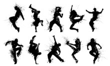 Grunge People Silhouettes