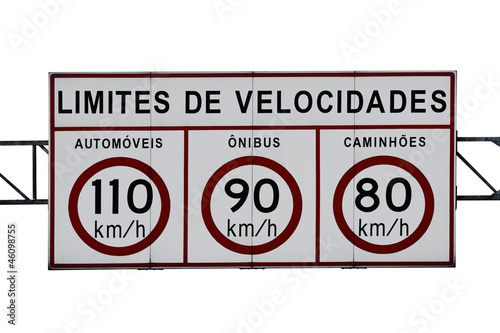 Cuadros en Lienzo  Speed limit highway sign
