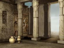 Ruiny Starożynej Budowli Egip...