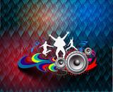 dance background for music event design. vector illustration.