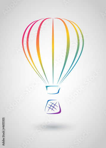 Aerostat (Vector web icon or logo template) Wallpaper Mural