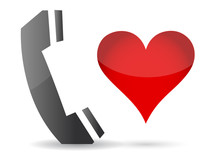 Phone And Heart Illustration Design