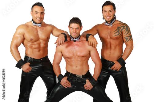 Fototapeta les hommes, striptease... obraz