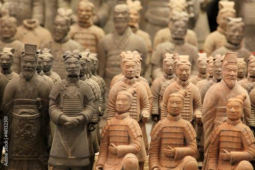 Spoed Foto op Canvas Xian famous terracotta warriors in XiAn, Qin Shi Huang's Tomb, China