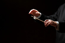 Hands Of A Conductor Isolated ...