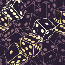 Dice Seamless Background Patte...