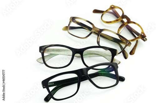 Fotografía  Brillengestelle rund angeordnet