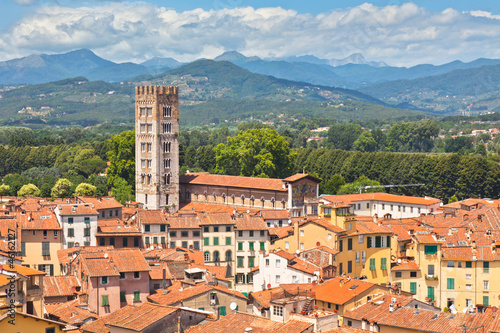 Fototapety, obrazy: View over Lucca, Tuscany town