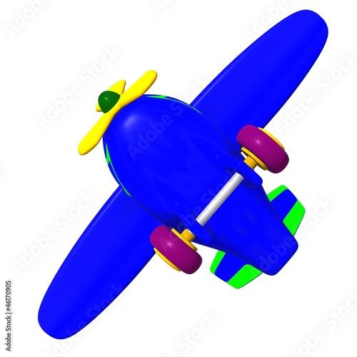 In de dag Vliegtuigen, ballon View flying airplane at sky heights