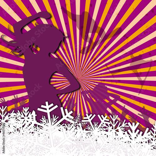 vector-winter-party-w-kolorze-fioletowym