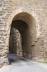 Fototapeta Castle of Borgia. Nepi. Lazio. Italy.