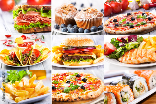 collage of fast food producrs © Nitr