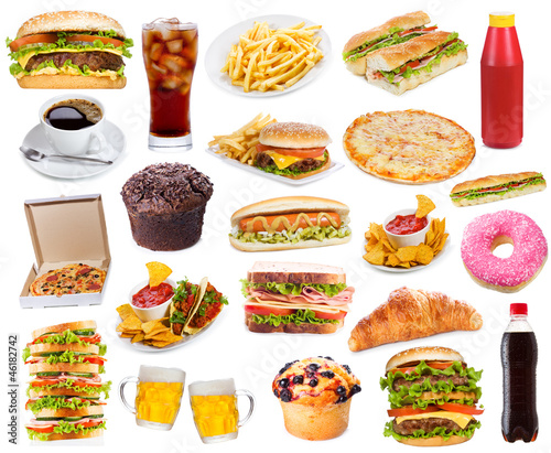 Set with fast food products © Nitr
