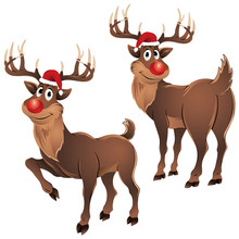 Rudolph The Reindeer Two Poses