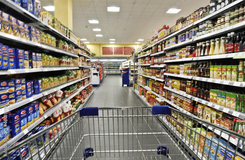 Fototapeta Einkaufen im Supermarkt