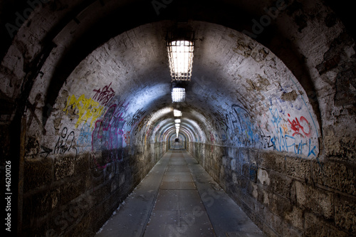 abandoned tunnel Canvas
