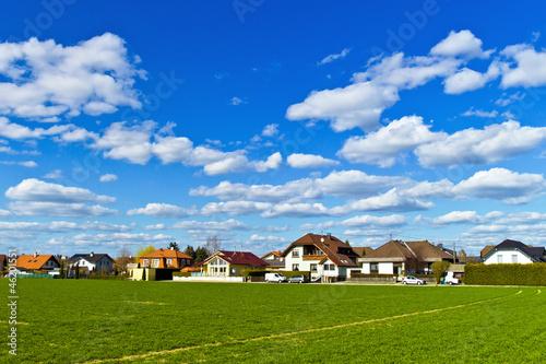 Fotografiet  Siedlung von Einfamilienhäusern