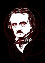 Edgar Allan Poe Portrait Mad W...