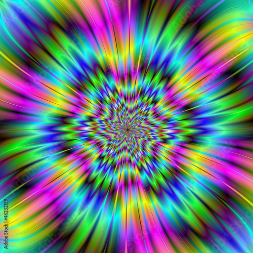 Photo Stands Psychedelic Rainbow Star
