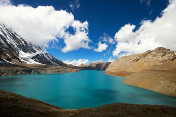 Panel Szklany Góry high altitude beautiful blue lake