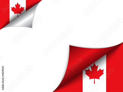 Fotografia  Canada Country Flag Turning Page