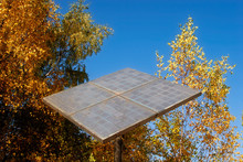 Solar Panel In The Forest