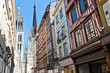 Half-Timbered Houses in Rouen, Normandy, France