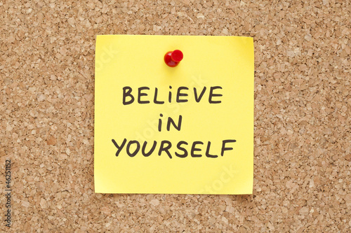 Sticky Believe In Yourself Poster