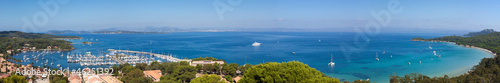 Poster Nice Panoramic view of Porquerolles island in France