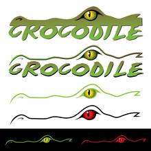 Crocodile Label - Vector Illus...