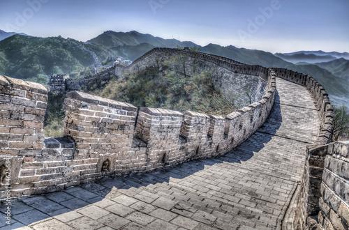 Tuinposter China Great Wall at Mutianyu near Beijing, China