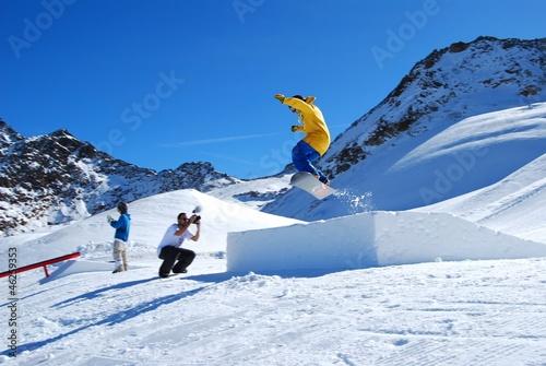 Vászonkép snowboard - jump