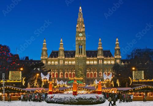 Fotografie, Tablou Wiener Weihnachtsmarkt