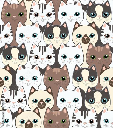 smieszne-koty-z-kreskowek-bezszwowy-wzor