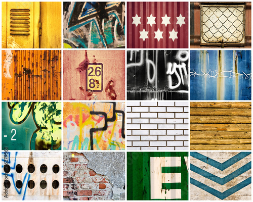 Wall Murals Graffiti collage Backgrounds