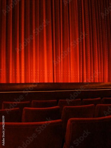In de dag Theater Red Theater Curtain