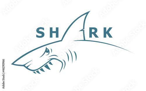 Fotografía Shark banner - vector illustration