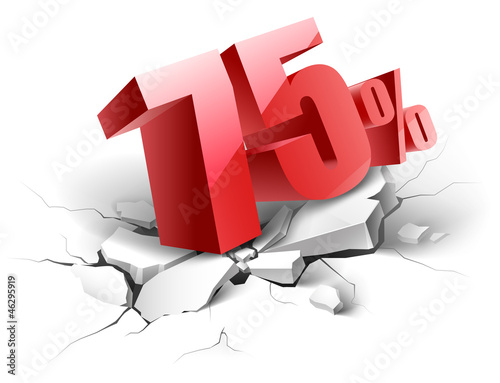 75 percent discount icon Poster