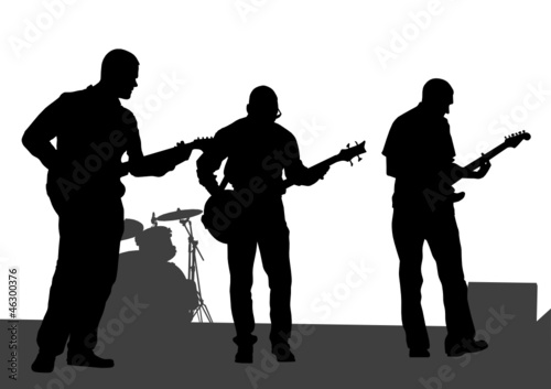 Poster Militaire Musical guitar people