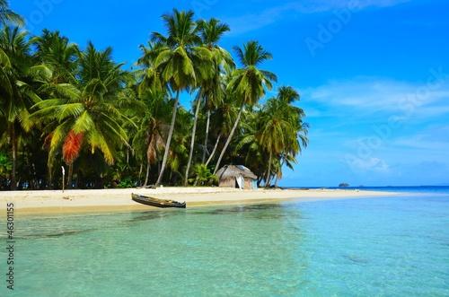 Photo Stands Caribbean Paradies - Strand auf kleiner Insel