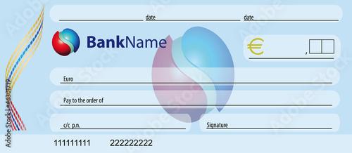 assegno banca Canvas Print