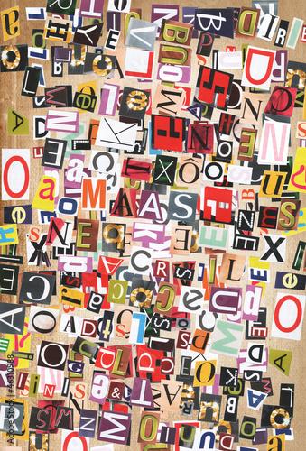 Foto op Aluminium Graffiti Digital collage made of newspaper clippings