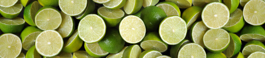 Obraz na Szkle Limonki-panorama